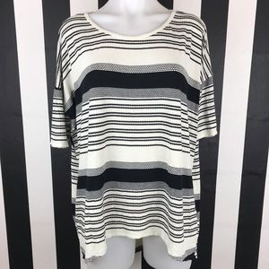 5 for $25 Lularoe Black White Striped T Shirt